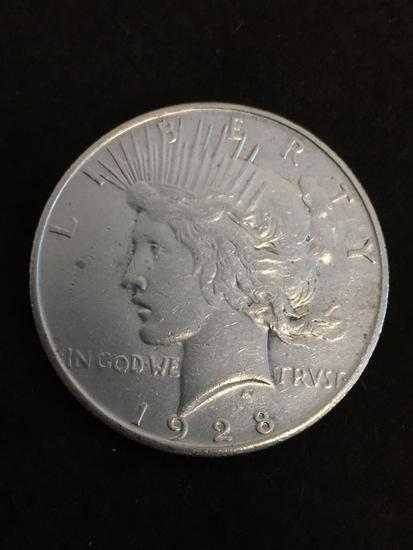 Key Date! 1928-S United States Peace Silver Dollar - 90% Silver Coin