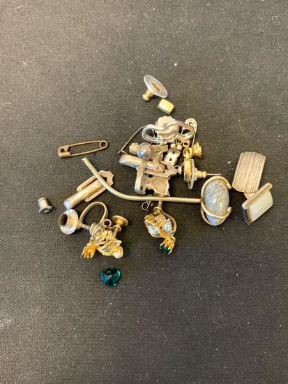 Miscellaneous Sterling Silver Jewelry Parts & Pieces