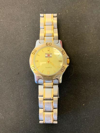 Tommy Boy 35mm Round Two-Tone Stainless Steel Watch w/ Bracelet
