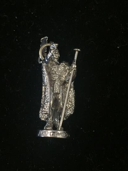 Honolulu Warrior Knight Sterling Silver Charm Pendant