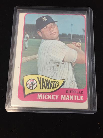 1965 Topps #350 Mickey Mantle Yankees Vintage Baseball Card