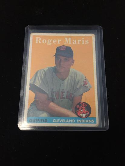 1958 Topps #47 Roger Maris Indians Rookie Vintage Baseball Card