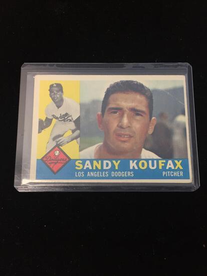 1960 Topps #343 Sandy Koufax Dodgers Vintage Baseball Card