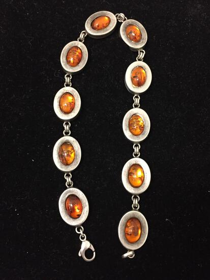 WOW 11 Inch Antique Baltic Amber Choker Necklace - 21 Grams