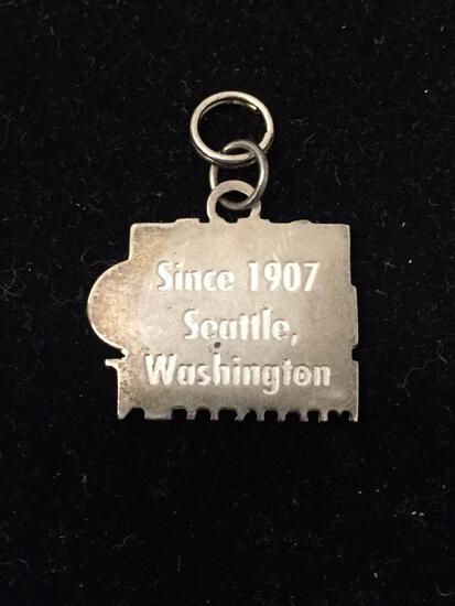 Vintage Pike Place Market Sterling Silver Charm Pendant - Large