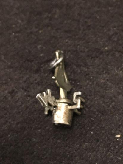 Spinning Weathervane Sterling Silver Charm Pendant