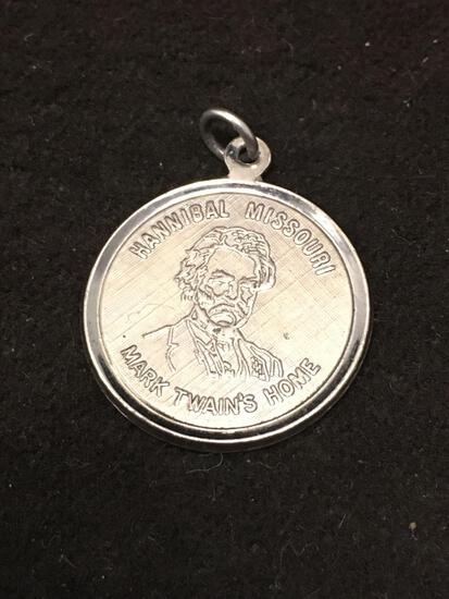 Mark Twain's Home Hannibal Missouri Sterling Silver Charm Pendant