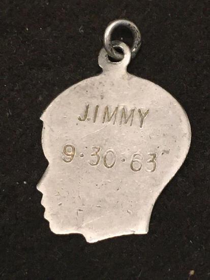 Newborn Baby 1963 Sterling Silver Charm Pendant