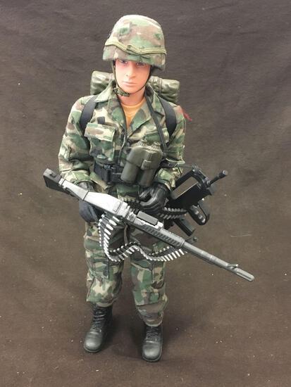 Vintage GI Joe Toy w/ Guns And Uniform
