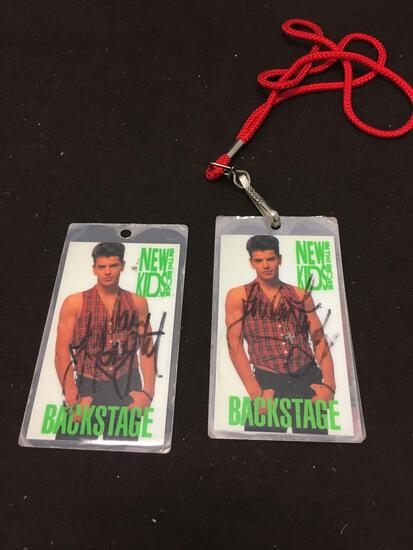 Lot of 2 New Kids on the Block Backstage Passes SIGNED