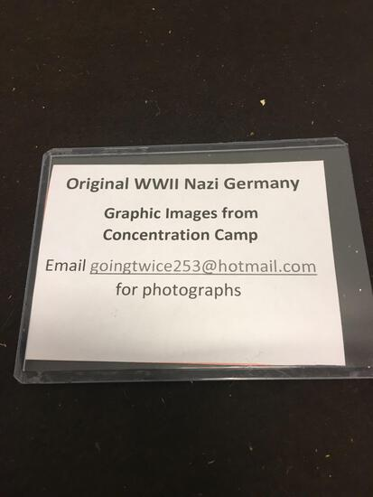 Original WWII Nazi Germany Graphic Images from Concentration Camp