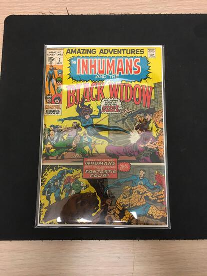 Amazing Adventures The Inhumans and Black Widow #2 Comic Book from Estate Collection