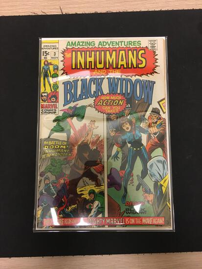 Amazing Adventures The Inhumans and Black Widow #3 Comic Book from Estate Collection