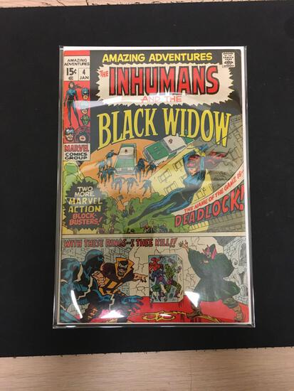 Amazing Adventures The Inhumans and Black Widow #4 Comic Book from Estate Collection