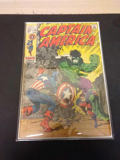Captain America #110 Comic Book from Estate Collection