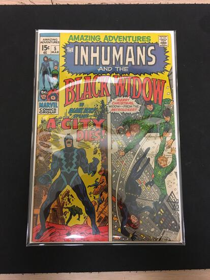 Amazing Adventures The Inhumans and Black Widow #5 Comic Book from Estate Collection