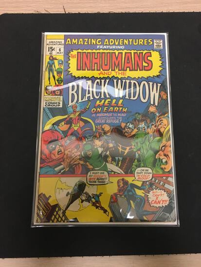 Amazing Adventures The Inhumans and Black Widow #6 Comic Book from Estate Collection
