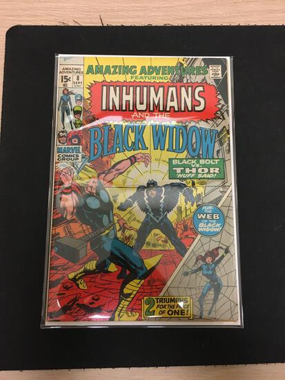 Amazing Adventures The Inhumans and Black Widow #8 Comic Book from Estate Collection