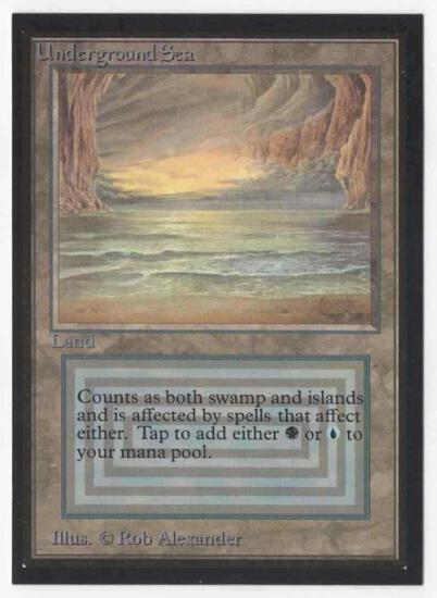 993 Mtg Magic The Gathering Collector's Edition Underground Sea NM Card