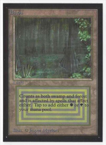 1993 Mtg Magic The Gathering Collector's Edition Bayou NM Card