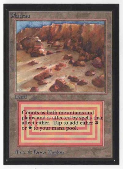 1993 Mtg Magic The Gathering Collector's Edition Plateau NM