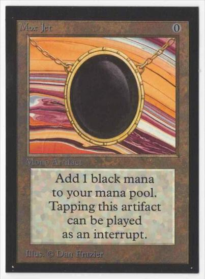 1993 Mtg Magic The Gathering Collector's Edition Mox Jet EX Card