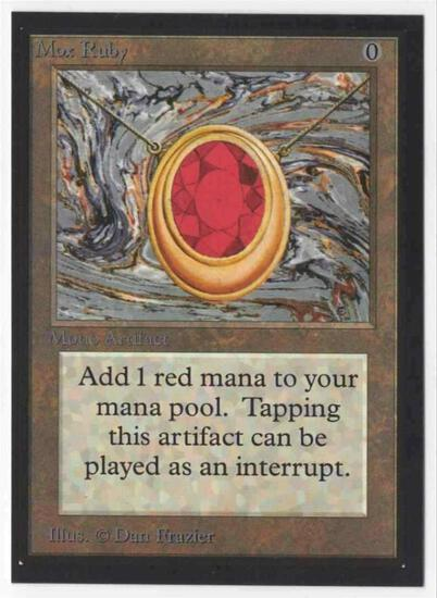 1993 Mtg Magic The Gathering Collector's Edition Mox Ruby NM Card