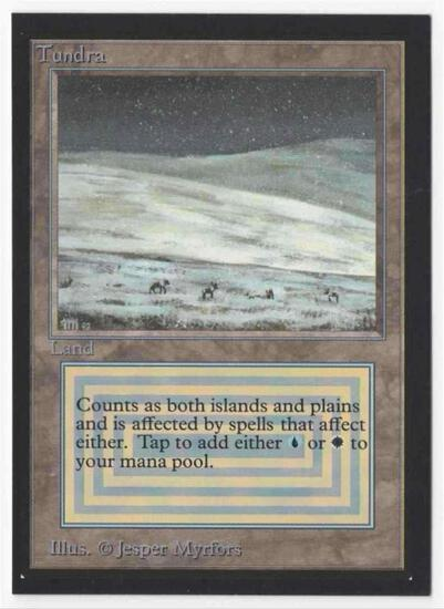 1993 Mtg Magic The Gathering Collector's Edition Tundra NM Card
