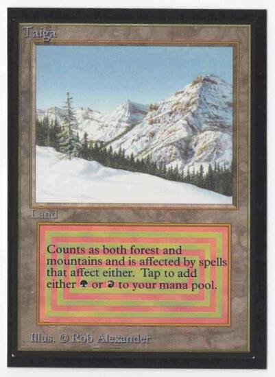 1993 Mtg Magic The Gathering Collector's Edition Taiga NM Card