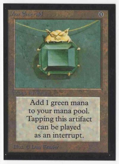 1993 Mtg Magic The Gathering Collector's Edition Mox Emerald NM Card