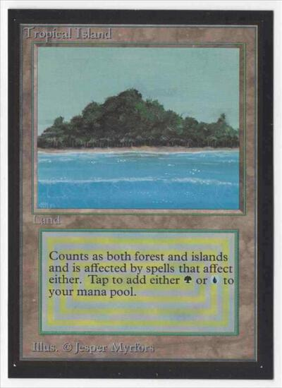 1993 Mtg Magic The Gathering Collector's Edition Tropical Island NM Card