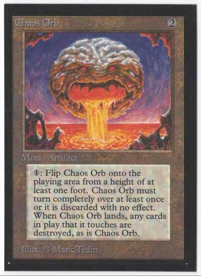 1993 Mtg Magic The Gathering Collector's Edition Chaos Orb NM Card