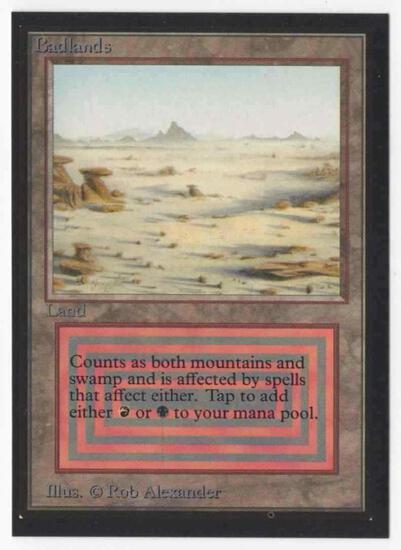 1993 Mtg Magic The Gathering Collector's Edition Badlands NM Card
