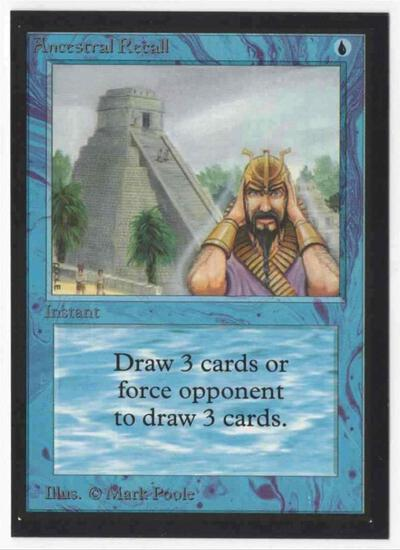 1993 Collector's Edition Ancestral Recall NM Card