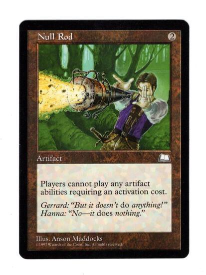 Mtg Magic The Gathering Null Rod Weatherlight Trading Card