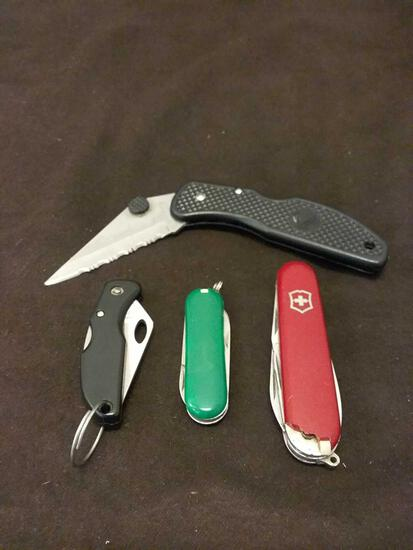 Lot of 4 Pocket Knives and Multi Tools from Estate