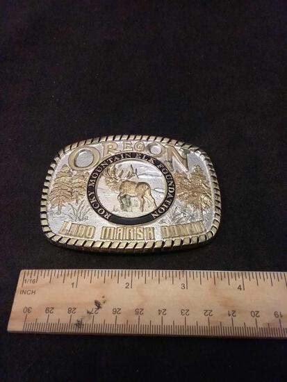 Oregon Elk Foundation Large First Edition Belt Buckle