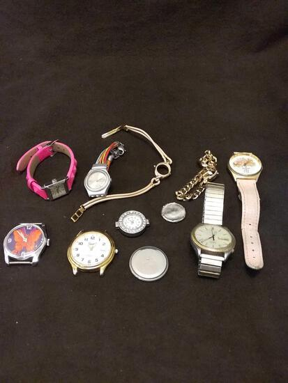 Lot of Estate Watches and Parts As Found