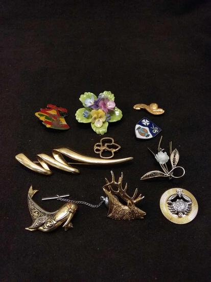 Vintage Brooch And Pin Collection