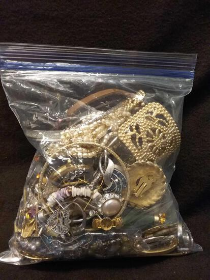 2+ Pound Bag of Estate Costume Jewelry