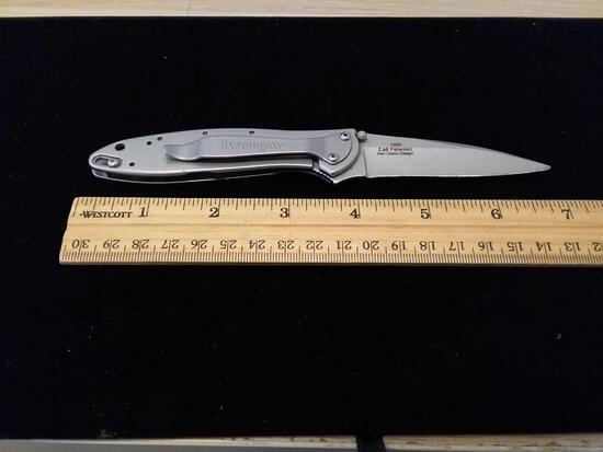 RARE Ken Onion Design Kershaw 1660 Chrome Tone Folding Pocket Knife
