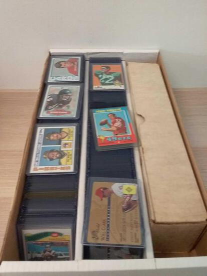 Box of Sports Cards From Collection - Lots of Vintage Football Cards from 1960s-1980s