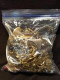 3 LB Bag of Estate Jewelry - Mostly Gold Tone