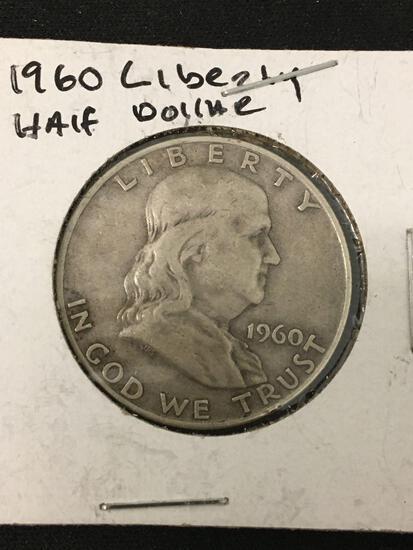1960-D United States Franklin Half Dollar - 90% Silver Coin