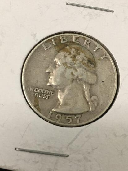 1957-D United States Washington Quarter - 90% Silver Coin