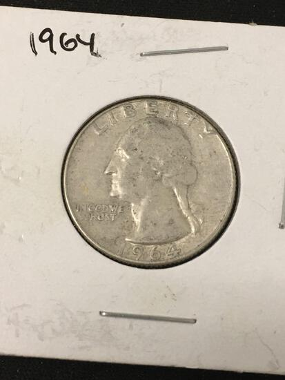 1964-D United States Washington Quarter - 90% Silver Coin