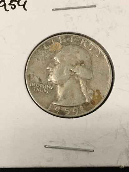 1959-D United States Washington Quarter - 90% Silver Coin