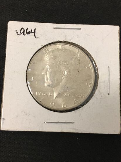 1964 United States Kennedy Half Dollar - 90% Silver Coin