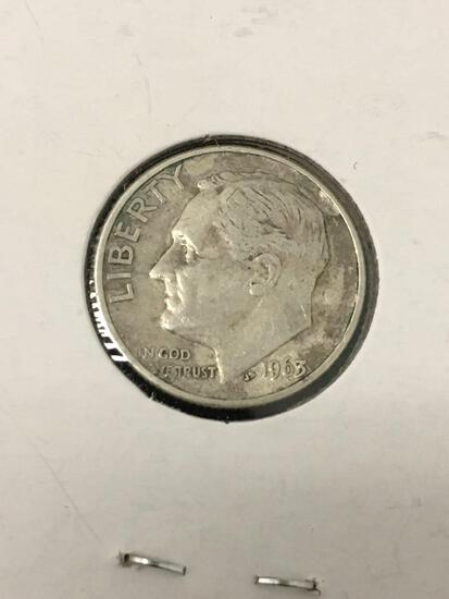 1963 United States Roosevelt Dime - 90% Silver Coin