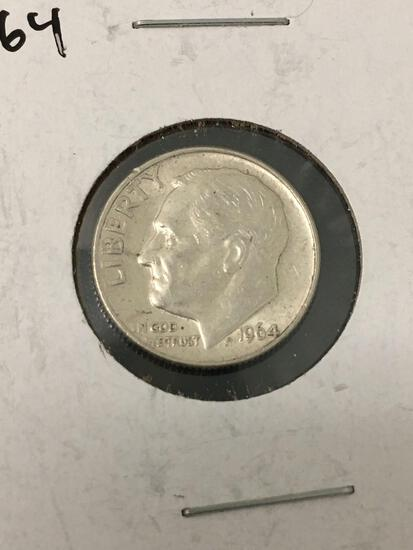 1964-D United States Roosevelt Dime - 90% Silver Coin